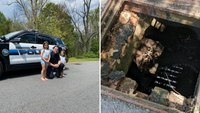 Mass. police officer rescues 15 ducklings from storm drain