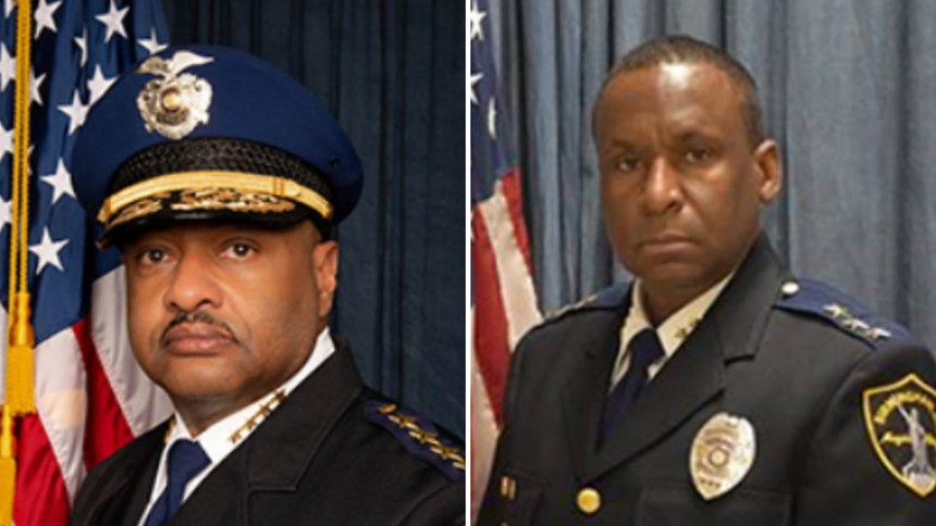 Birmingham Police Chief Patrick Smith (left) and Assistant Police Chief Darnell Davenport