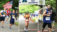 Hundreds hit the streets for Long Island police charity run after hiatus