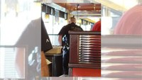 An elderly man couldn't pay his tab, so a police officer did