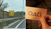 Not 'Squid Game,' just roadwork signage, UK police say