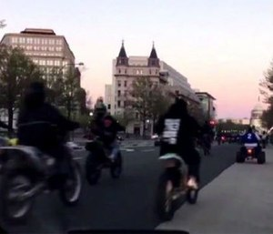 Last week ATV riders in Washington surrounded, stopped an ambulance carrying a child (Twitter NBC Washington)