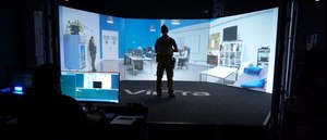 Simulation training like that offered by VirTra includes variable outcomes, guided by instructors based on the choices trainees make in the moment, to help officers practice decision-making and de-escalation strategies in real time.