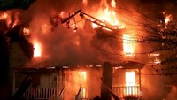 A house fire timeline for volunteer firefighters