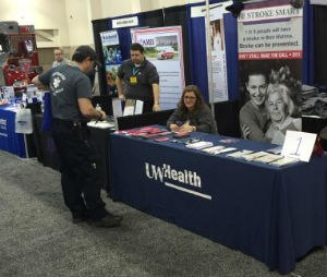 WEMSA Working Together attendee learns about stroke care. (Image WEMSA)