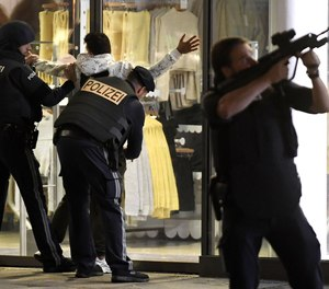 Police respond in central Vienna on November 2, 2020, following a terrorist attack near a synagogue.