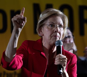 Democratic Presidential candidate Sen. Elizabeth Warren (D-Mass.) at the Poor People's Campaign Moral Action Congress on June 17, 2019. (Michael Nigro/Sipa USA/TNS)