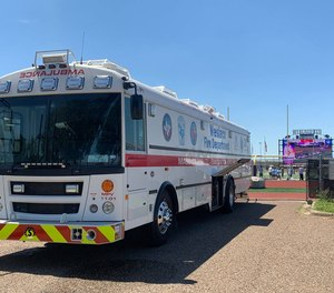 The ambus was purchased through the help of the Lower Rio Grande Valley Development Council and TRAC-V, a group of hospitals and ambulance service providers.