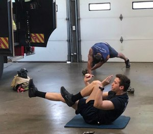 The Compass project combines mental health and physical fitness support for fire and police in Huntington. (Photo/Compaass project)