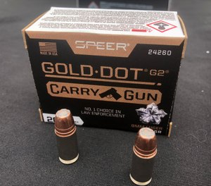 The new Speer Gold Dot G2 Carry Gun offers a redesigned hollowpoint cavity to optimize expansion and penetration in short barrel pistols. (Photo/Mike Wood)