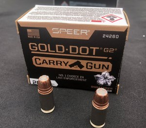 The new Speer Gold Dot G2 Carry Gun offers a redesigned hollowpoint cavity to optimize expansion and penetration in short barrel pistols.