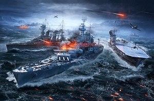 World of Warships battle scene