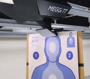 Meggitt showed off its XWT GEN4 wireless target carrier on the SHOT Show exhibit floor this year. (Photo/Meggitt Training Systems)