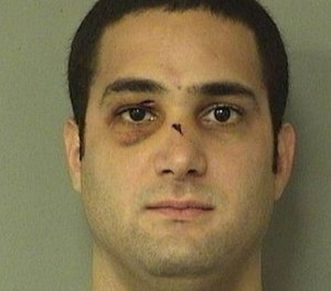 Xavier Inocencio Moran, 25, was arrested on April 7 on charges of battery, two counts of aggravated assault with a deadly weapon without intent to kill, resisting an officer without violence and escape. (Photo/Palm Beach County Jail)
