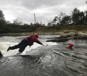 When the water is up, we as professional rescuers should always be on the water training and ensuring the equipment is ready to go.