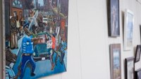 Artwork depicting pig in police uniform removed from Capitol display