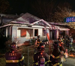 After a three-week investigation, the FDNY says a fire they responded to at an abandoned house on Nov. 22, which killed three people inside and left four firefighters with minor injuries, was intentionally set. (Photo/FDNY Twitter)