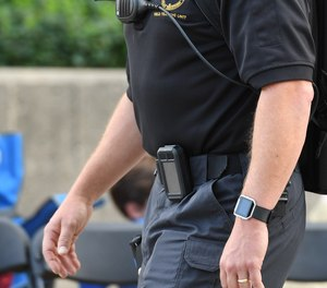 The AccuRad personal radiation detector can be worn discreetly by law enforcement to detect potential radiation threats. (image/Mirion Technologies)