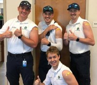 Photo of the Week: Paramedics challenge YOU to take the flu shot