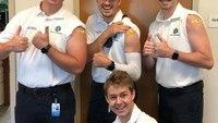 Photo of the Week: Paramedics challenge YOU to take the flu shot