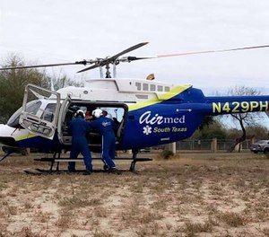 Hidalgo County EMS announced that its air ambulance service, South Texas Air Med, will now carry Type O-positive blood and RhoGAM in the hopes of saving more patients' lives. (Photo/Hidalgo County EMS Facebook)