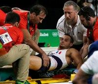 Paramedics drop Olympic gymnast with broken leg