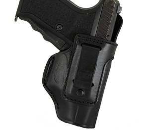 The Talon Plus is a leather IWB holster with a very strong nylon clip that can be clipped either to a belt or to the pants themselves. (Alessi Holsters)