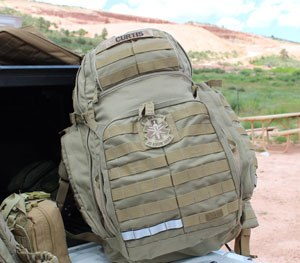 The bag is available in Albert Blue or Sandstone (pictured) and retails for $239.99.