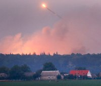 Fire at Ukraine ammunition depot prompts mass evacuation