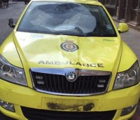 Fans raise thousands to repair ambulance damaged after World Cup