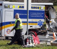 Tractor-trailer collides with ambulance; 3 hurt