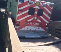 Mo. bridge partially collapses under weight of ambulance