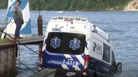 Police: Woman crashed stolen ambulance into NY lake