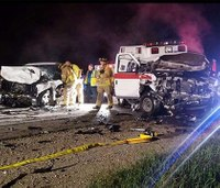 2 paramedics, 1 other injured in Mich. ambulance crash