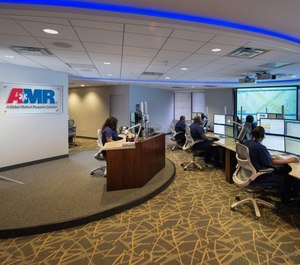 American Medical Response's Nurse Navigation command center. AMR has partnered with DeKalb County to transfer some 911 callers to a nurse to discuss their symptoms and consider alternatives to emergency department transport. (Photo/AMR)