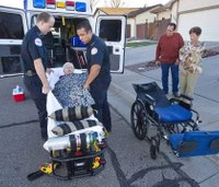 Ambulance services bring patients home for the holidays
