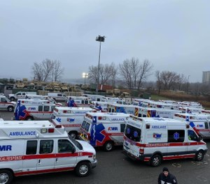 Global Medical Response (GMR) has deployed American Medical Response (AMR) to the New York metropolitan area to aid in COVID-19 response efforts. The greater New York area has become the epicenter of the disease outbreak within the United States. (Photo/GMR)