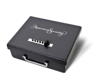 The least expensive method to store your firearms is a locking pistol box such as this one from American Security.
