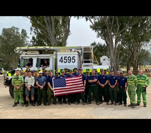 A group of 20 Angeles National Forest Firefighters returned from Australian deployment Wednesday morning, after about a month fighting devastating wildfires overseas. (Photo/Angeles National Forest)