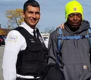 Pictured are Lt. John Garrido (left) and Anthony Johnson.