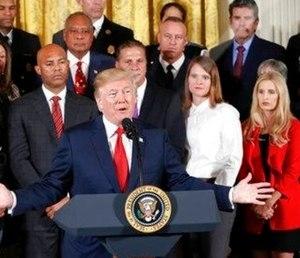 President Donald Trump speaks on the opioid crisis. (Photo/AP)