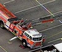 Pa. fire truck aerial breaks, strikes man