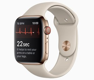 The Apple Watch's latest update includes an ECG app that monitors heart rate and checks for irregular rhythms.