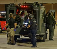 Armored vehicle used to retrieve shooting victim in Milwaukee riot