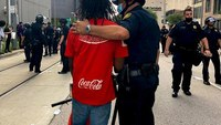 Videos, photos: Cops, activists connect during #GeorgeFloyd protests