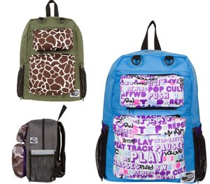 Kids can build their own backpacks, choose their patterns, and add pockets and accessories.
