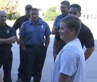 Firefighters aid autistic boy bullied on school bus