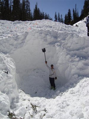 Utah avalanche victim was recovered from under 12 feet of snow. (Photo courtesy UtahAvalancheCenter.org)