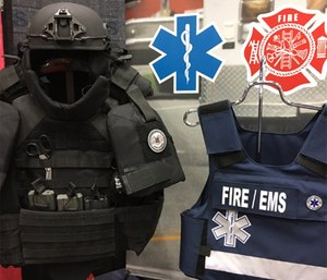 Lubbock Fire Rescue Capt. Kevin Ivy said the use of the body armor went into effect this week. (Photo/Meera Pal)