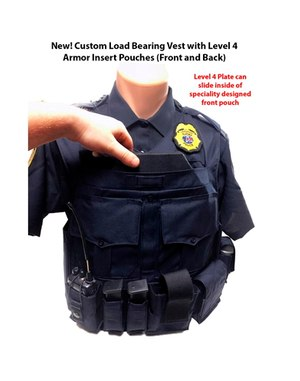 Each custom load bearing vest is made to the Chief's or Sheriff's exact specifications, giving the officers a uniform look. (Courtesy photo)